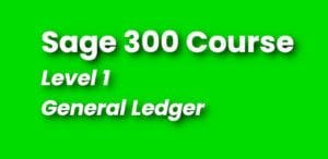 Sage 300 Couse - Level 1 Training - Continuing Education
