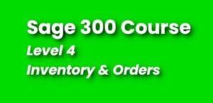 Sage 300 Training - Level 4 Course
