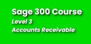 Sage 300 Training - Level 3 Course - Continuing Education